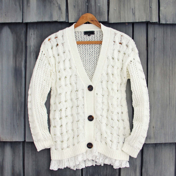 Jack Frost Lace Fisherman's Sweater: Featured Product Image