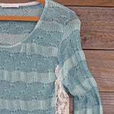 January Mint Lace Top: Alternate View #2