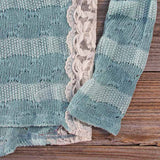 January Mint Lace Top: Alternate View #3