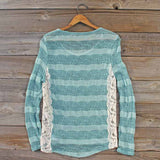 January Mint Lace Top: Alternate View #4