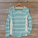 January Mint Lace Top: Alternate View #1
