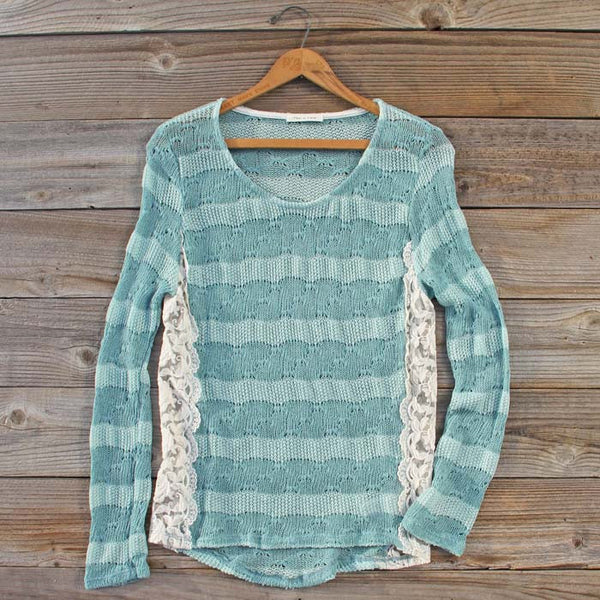 January Mint Lace Top: Featured Product Image