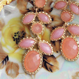 Just Peachy Earrings: Alternate View #2