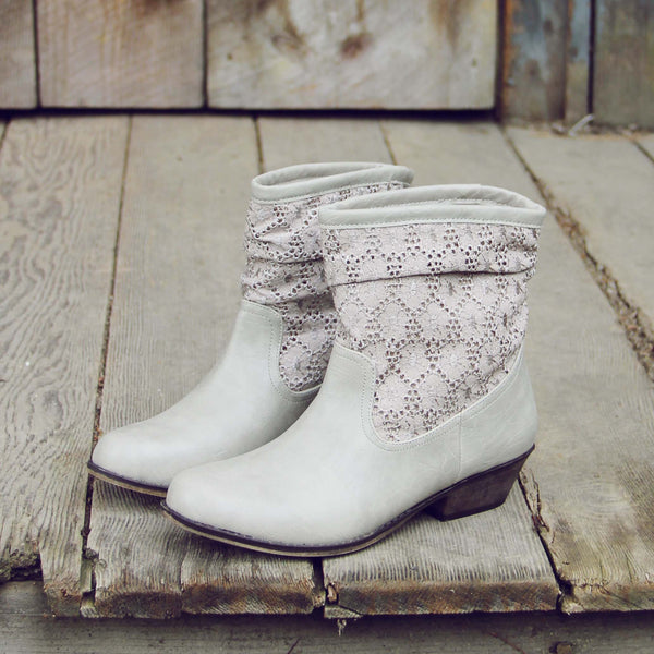 Laced Path Boots in Stone: Featured Product Image