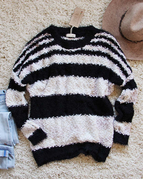 Layla Cozy Stripe Sweater: Featured Product Image