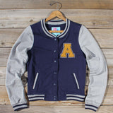 The Letterman's Sweatshirt in Navy: Alternate View #1
