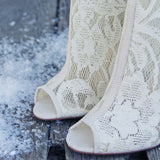 Meadowlark Lace Booties: Alternate View #2