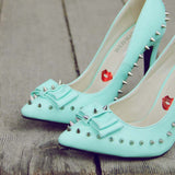 Mint & Studs Heels: Alternate View #2