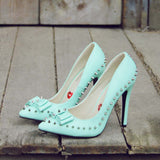 Mint & Studs Heels: Alternate View #1