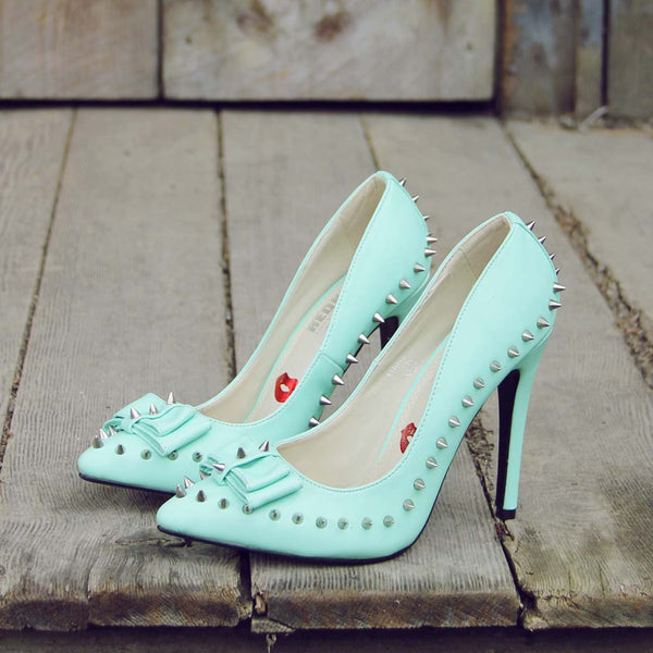 Mint & Studs Heels: Featured Product Image