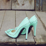Mint & Studs Heels: Alternate View #3