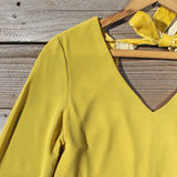 Moon & Feather Dress in Mustard: Alternate View #2