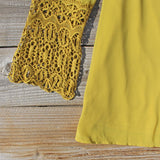 Moon & Feather Dress in Mustard: Alternate View #3
