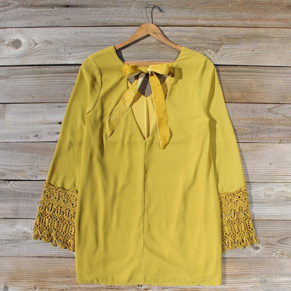 Moon & Feather Dress in Mustard: Featured Product Image