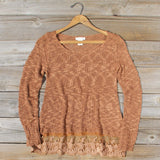 North Forest Knit Thermal in Rust: Alternate View #1