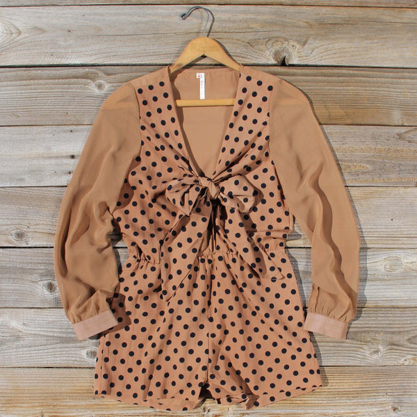 November Dots Romper: Featured Product Image