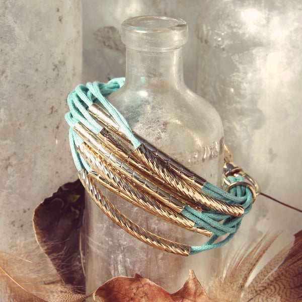 October Bundle Bracelet in Turquoise: Featured Product Image