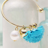 Peach Blossom Bracelet in Turquoise: Alternate View #2