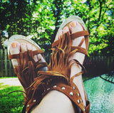 Sageland Fringe Sandals: Alternate View #4