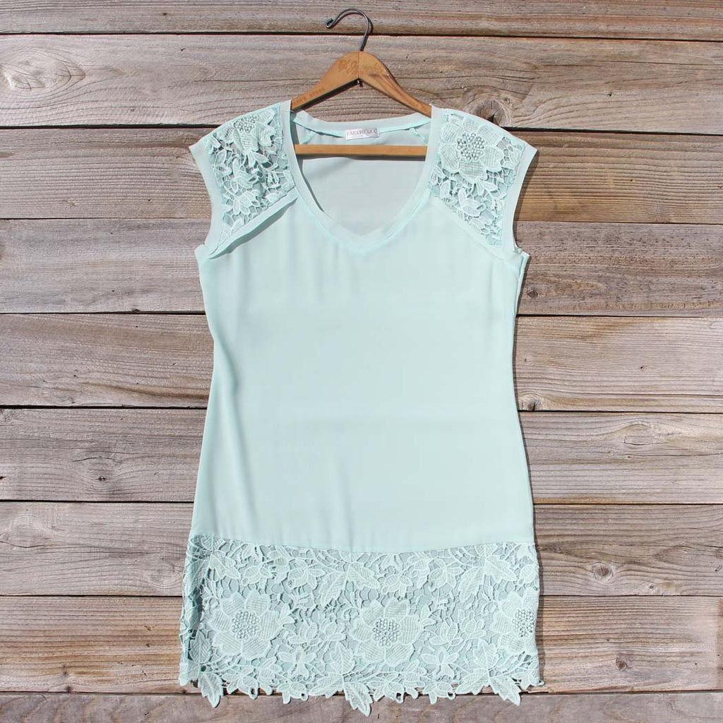 Sea Foam Lace Dress, Sweet Lace Party Dresses from Spool No.72 ...