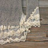 Skyline Lace Sweater in Ash: Alternate View #4