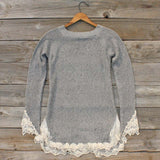 Skyline Lace Sweater in Ash: Alternate View #5