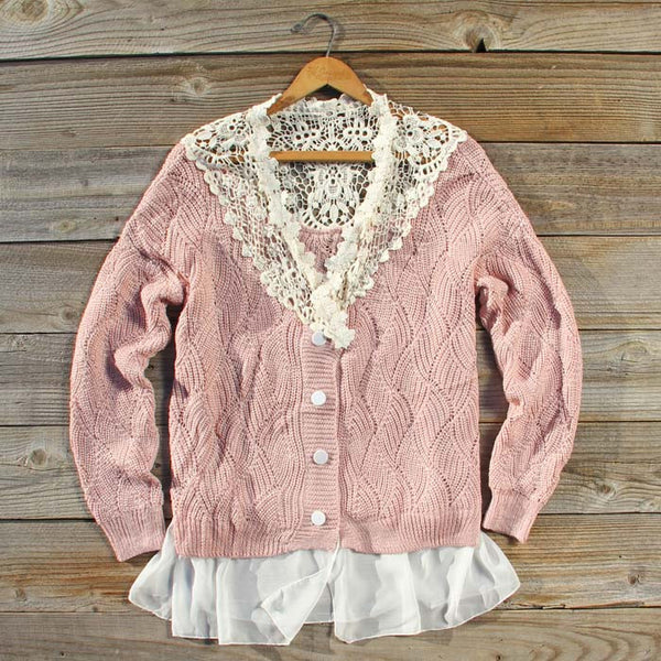 Sleepy December Sweater in Pink: Featured Product Image