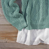 Sleepy December Sweater in Sage: Alternate View #3