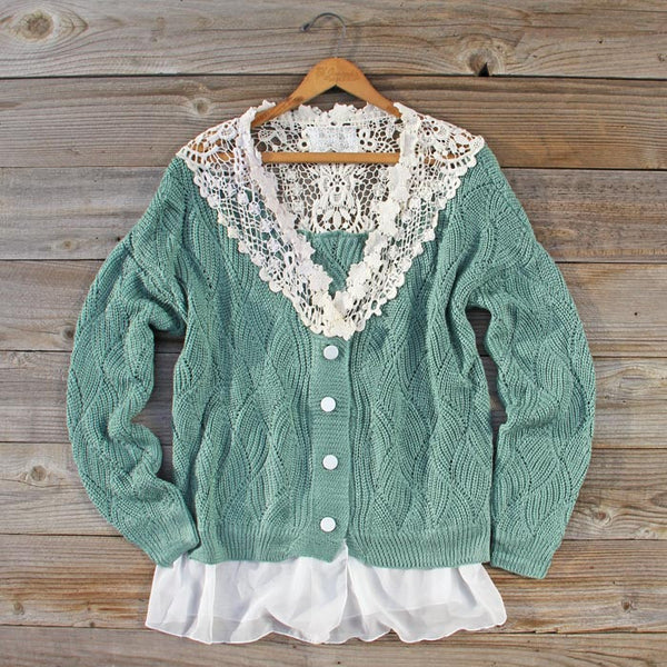 Sleepy December Sweater in Sage: Featured Product Image