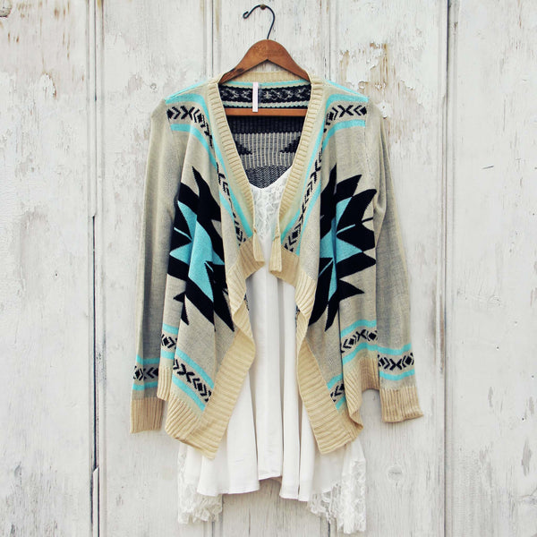 Smoke River Sweater in Turquoise: Featured Product Image