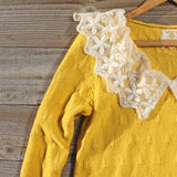 Snowbell Lace Sweater in Mustard: Alternate View #2