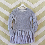 Snowflake Boyfriend Sweater in Gray: Alternate View #2