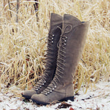 Snow Grass Lace-Up Boots: Alternate View #1