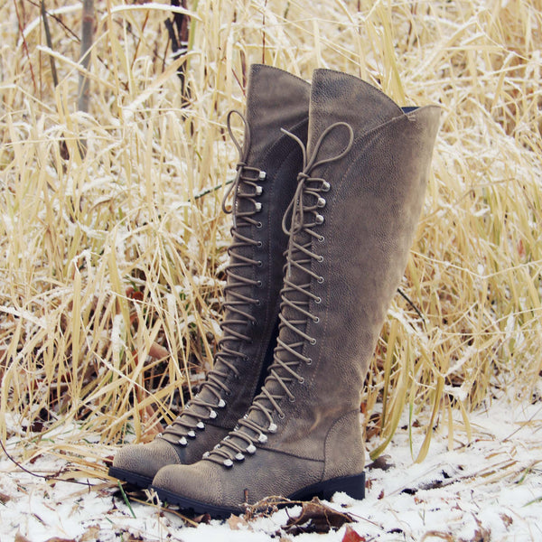 Snow Grass Lace-Up Boots: Featured Product Image
