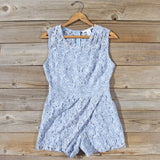 Something Blue Lace Romper: Alternate View #1