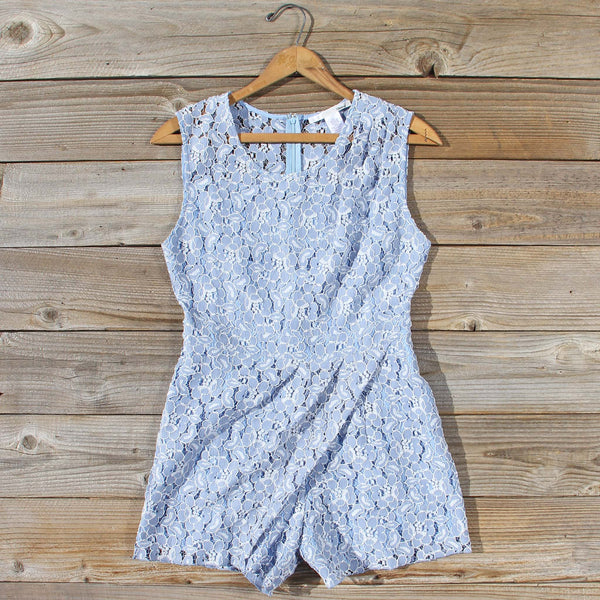 Something Blue Lace Romper: Featured Product Image
