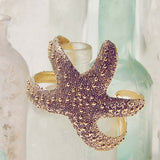 Sparkling Starfish Cuff Bracelet: Alternate View #1
