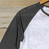 Spool Basics Baseball Sleeve Tee: Alternate View #2