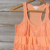 Spool Basics Ruffle Tank in Peach: Alternate View #2