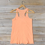 Spool Basics Ruffle Tank in Peach: Alternate View #4