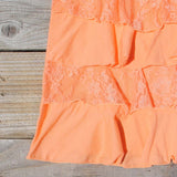 Spool Basics Ruffle Tank in Peach: Alternate View #3