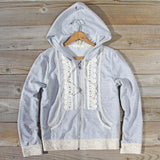 Spool Gym Lace Hoodie in Gray: Alternate View #1