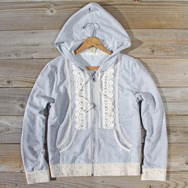 Spool Gym Lace Hoodie in Gray: Featured Product Image
