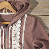 Spool Gym Lace Hoodie in Brown: Alternate View #2