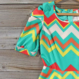 Spring Song Chevron Dress: Alternate View #2