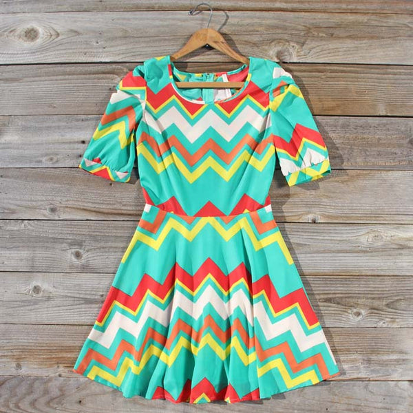 Spring Song Chevron Dress: Featured Product Image