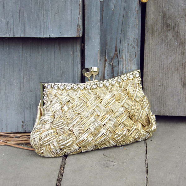 Spun Gold Party Clutch: Featured Product Image
