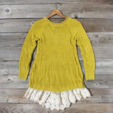 Spun Straw Lace Sweater: Alternate View #4