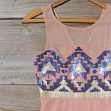 Stone Spell Beaded Dress in Dusty Pink: Alternate View #2