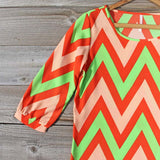 Sugarberry Chevron Dress: Alternate View #2